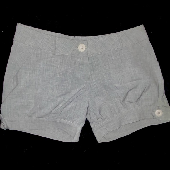 NWOT- Light Grey Fitted Puff Shorts